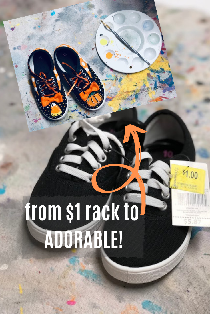 DIY painted shoes. From $1 rack to ADORABLE