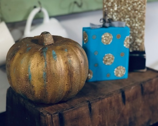 Dollar Tree pumpkins, how to give them a rustic makeover
