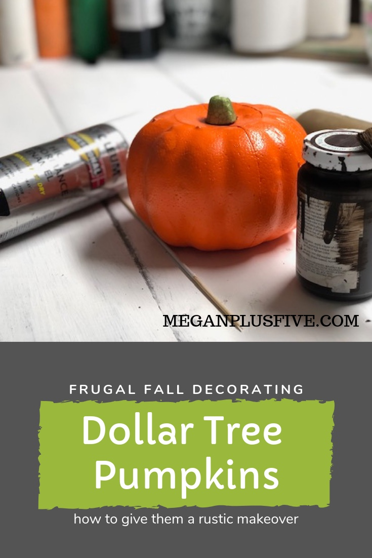 Frugal fall decorating, how to give a Dollar Tree pumpkin a rustic makeover