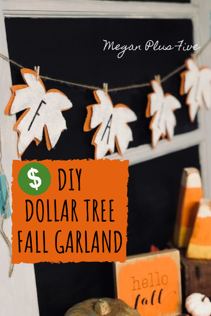 Diy Dollar Tree Fall Garland Save Money On You Fall Decor And Diy Yours For A Fraction Of The Cost Megan Plus Five