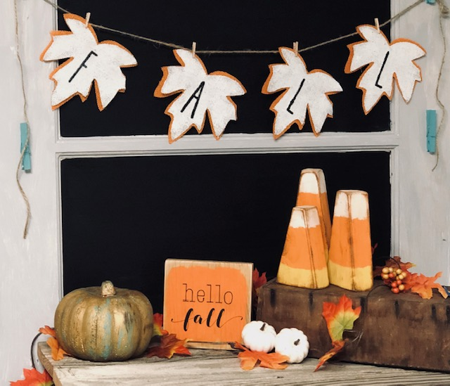 How to make your own rustic Rae Dunn inspired fall garland on a budget