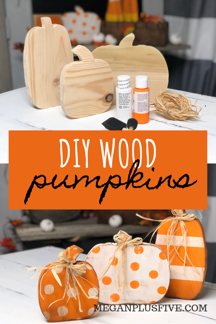 DIY CRAFT KIT how to paint your standing wood pumpkin cut outs. This craft is perfect for you to DIY for your rustic fall decor.