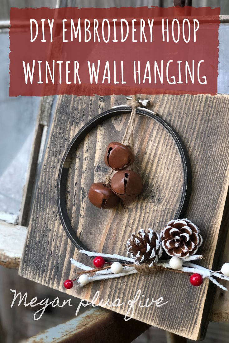DIY EMBROIDERY HOOP WINTER WALL HANGING. Fun embroidery hoop craft that is so easy to make at home for the holidays