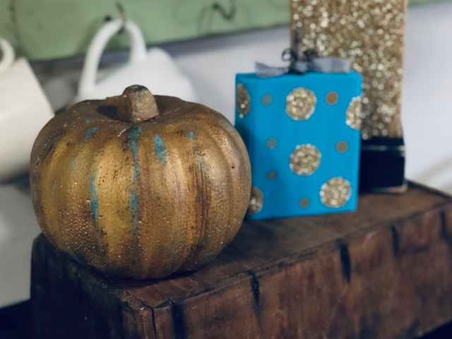 How to give a Dollar Tree pumpkin a rustic makeover