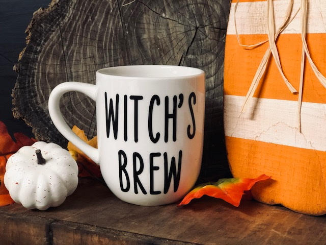 EASY witch's brew coffee mug decal using your CRICUT