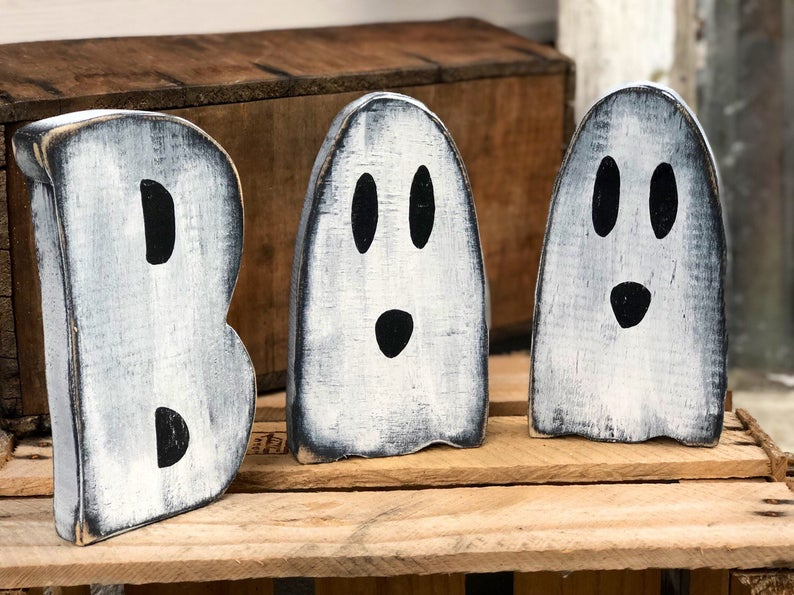 DIY CRAFT KIT how to paint your free standing BOO wood cutouts