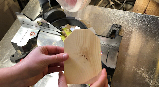DIY easy wood tags using your miter saw
