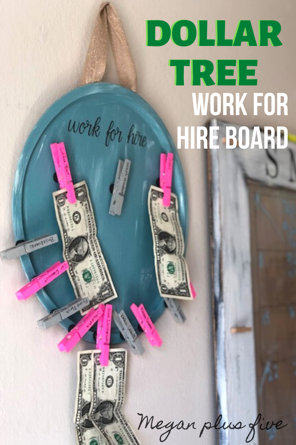 Diy Dollar Tree Work For Hire Chore Chart Megan Plus Five