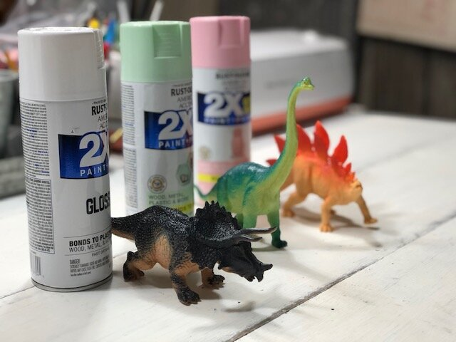 How I made super girly dinosaurs for my daughter's bedroom