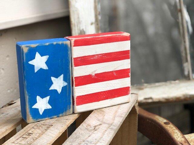 DIY 2x4 chunky wood flag