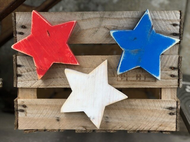 DIY 4th of July painted wood stars