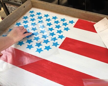 Turn an old drawer into a rustic Ameican flag. It doesn't take much to repurose a drawer that's been collecting dust. If you have some paint and a little creativity you can make your own farmhouse style old looking flag for your home decor.