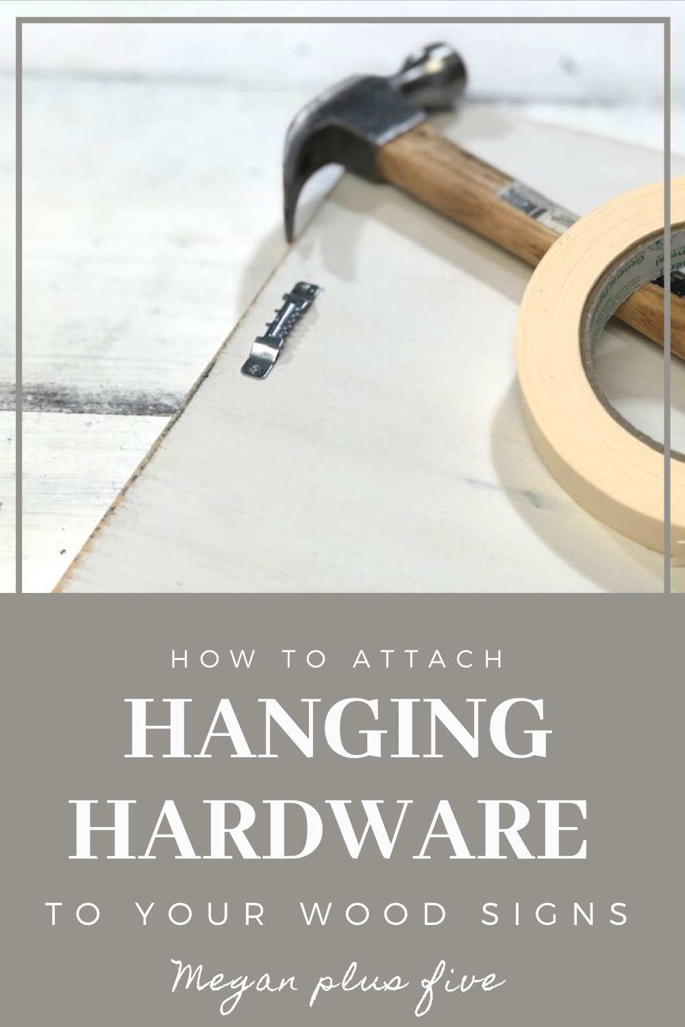 How to attach hanging hardware to wood signs. Easily add a sawtooth hanger to your handpainted signs.