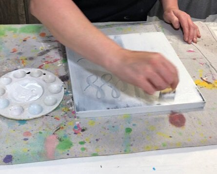 DIY sign painting tutorial. How to make a reverse stenciled sign. Painting a wood sign with no paint bleed, paint peel up, crisp lines.