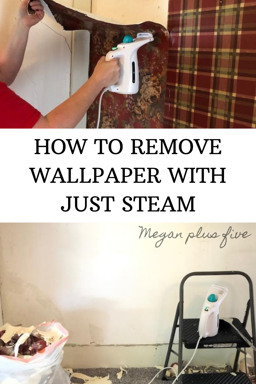 How to remove wallpaper easily without any chemicals or cleaners. Easiest way to take wall paper off the walls using a steamer for garments. No mess way to get wallpaper off of the walls.