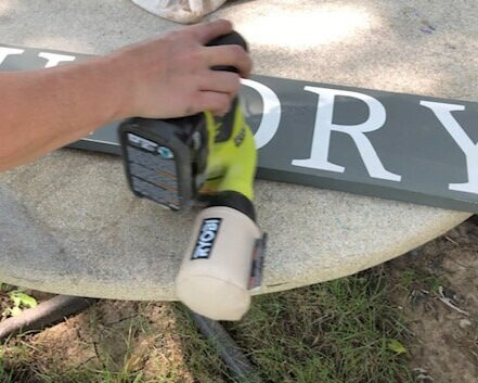 DIY WOOD SIGN TUTORIAL, how to make a wooden stenciled sign for your laundry room. Larger than mat sign tutorial. Oversized sign making step by step tutorial using your Cricut or Silhouette vinyl cutting machine.