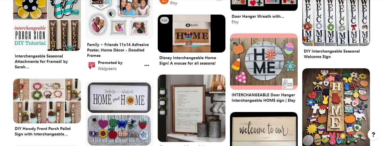 Interchangeable seasonal home décor. Pinterest welcome sign change it out for the seasons. Make your own seasonal home decor.