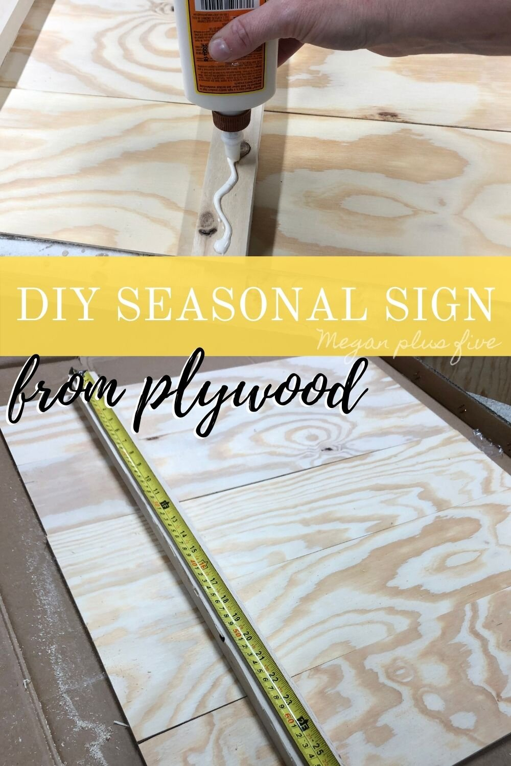 DIY interchangeable seasonal sign. How to make a blank sign to change out throughout the year. DIY holiday seasonal sign