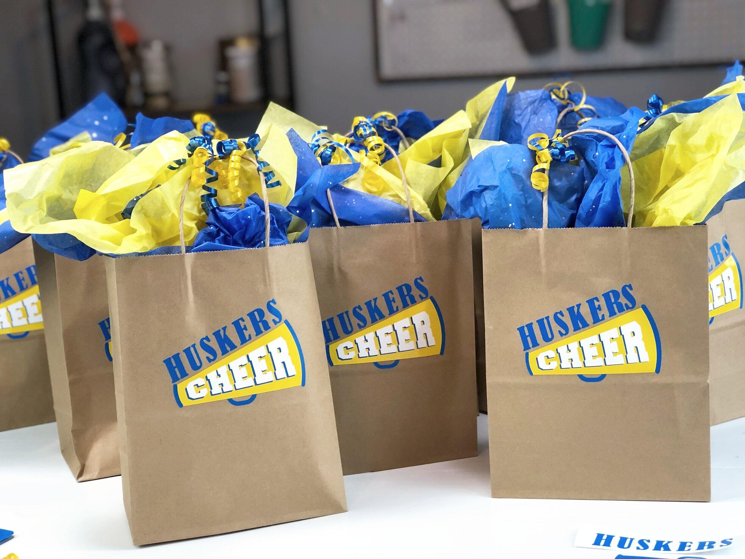 Last minute end of the season cheerleader gift bags