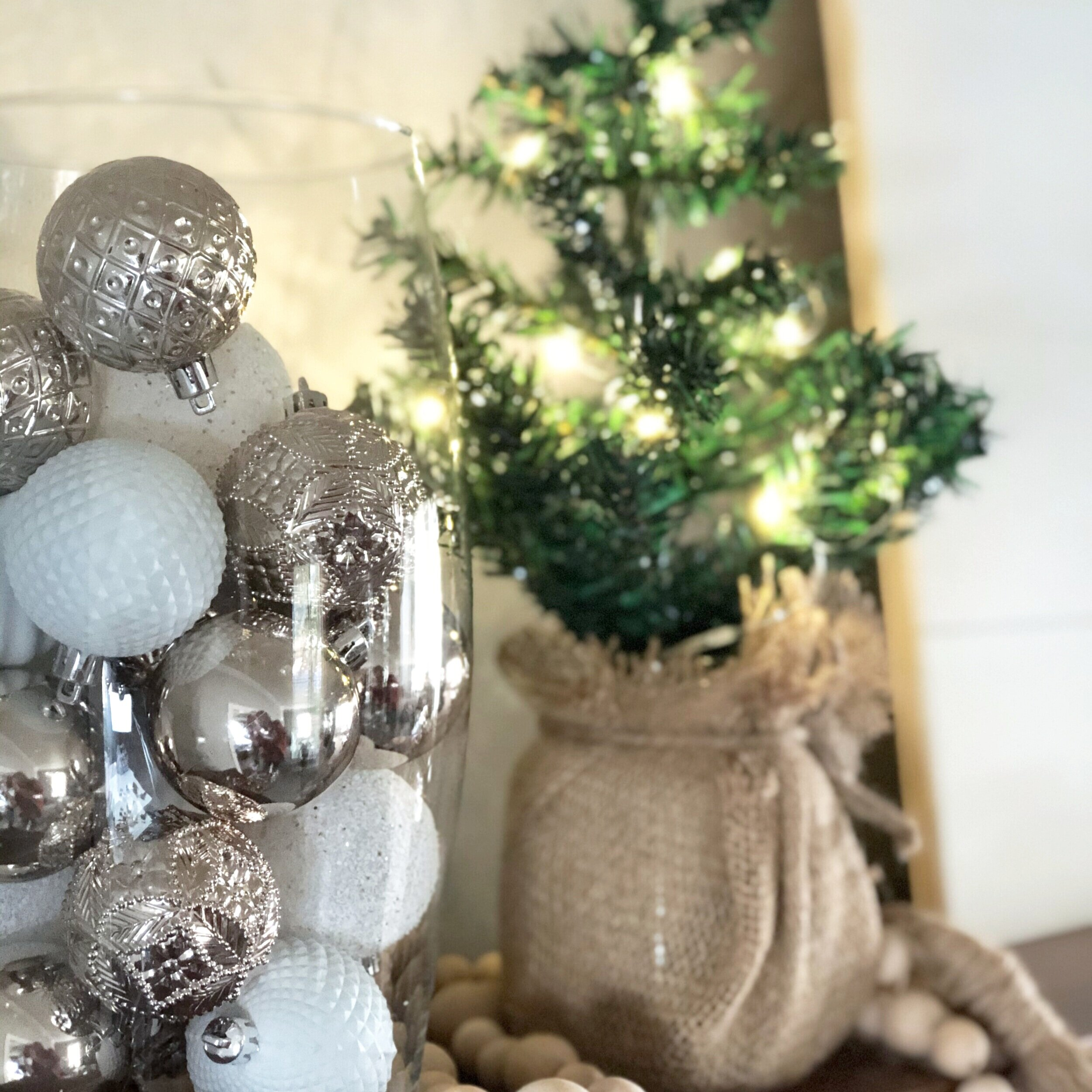 Dollar Tree Christmas Tree rustic decoration