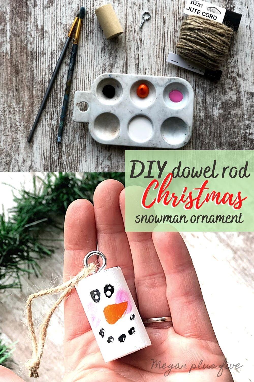 Diy Dowel Rod Snowman Ornament Day 8 Megan Plus Five