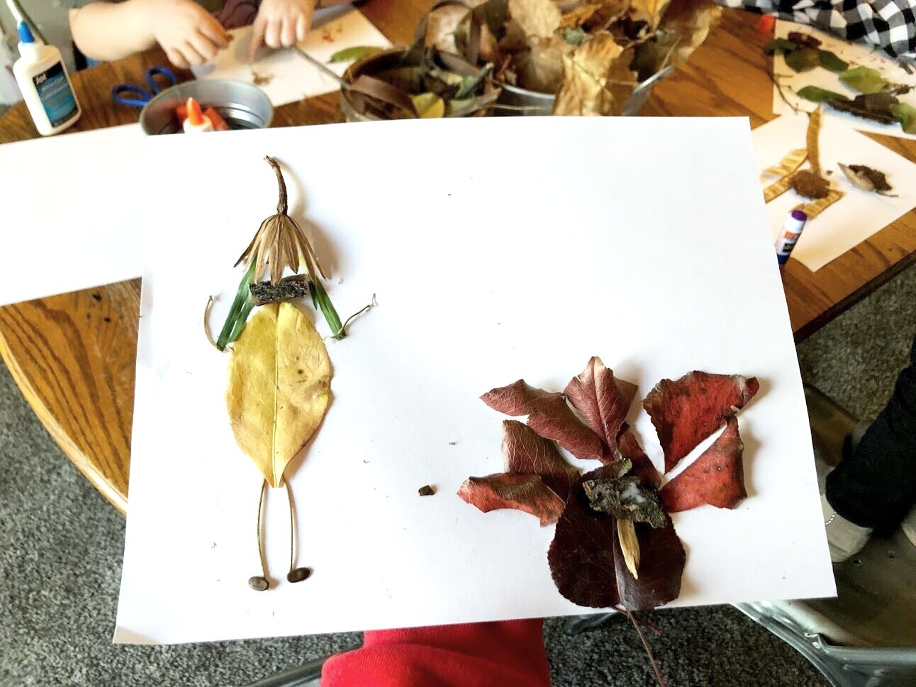 Making leaf art with your kids