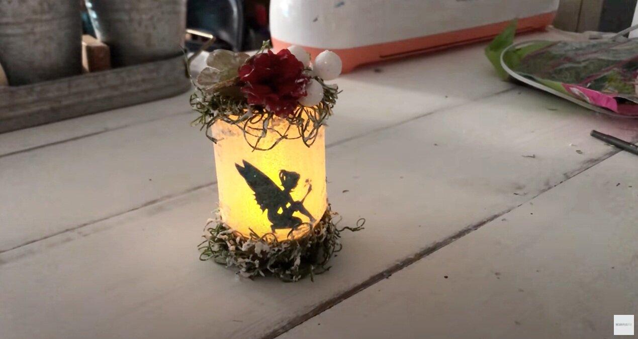 MINI glittery fairy jar Christmas ornament