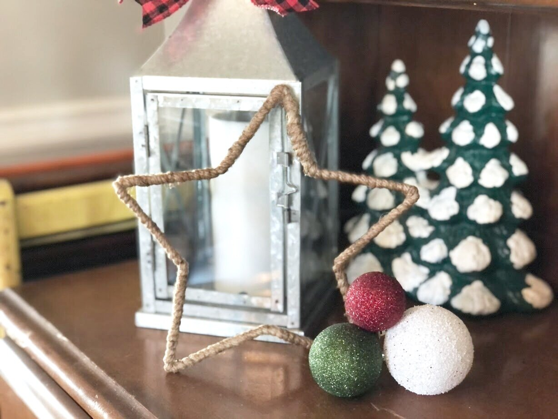 Dollar store Christmas star makeover
