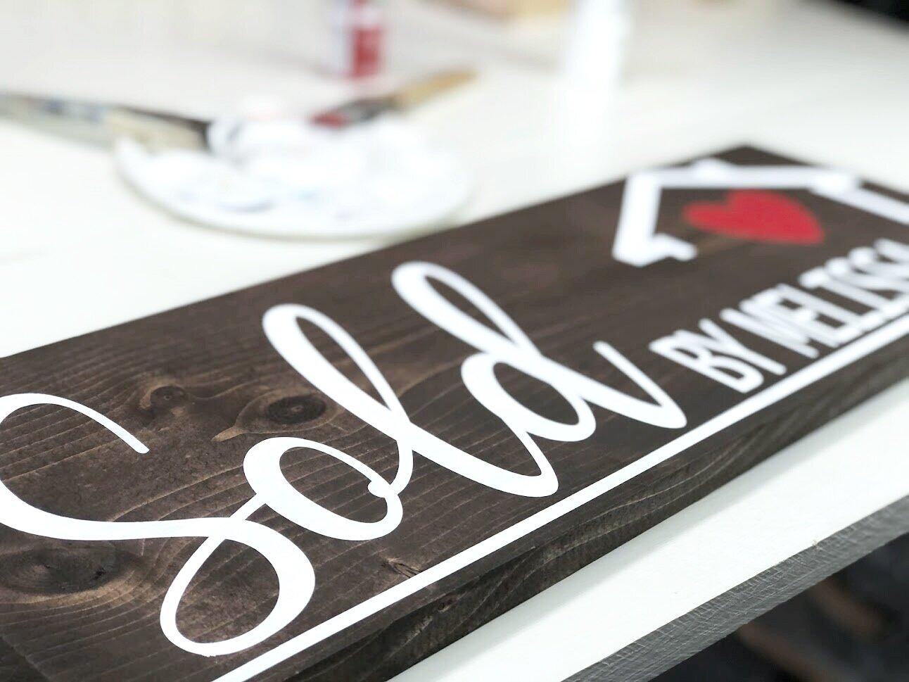 DIY sold by realtor sign + FREE SVG