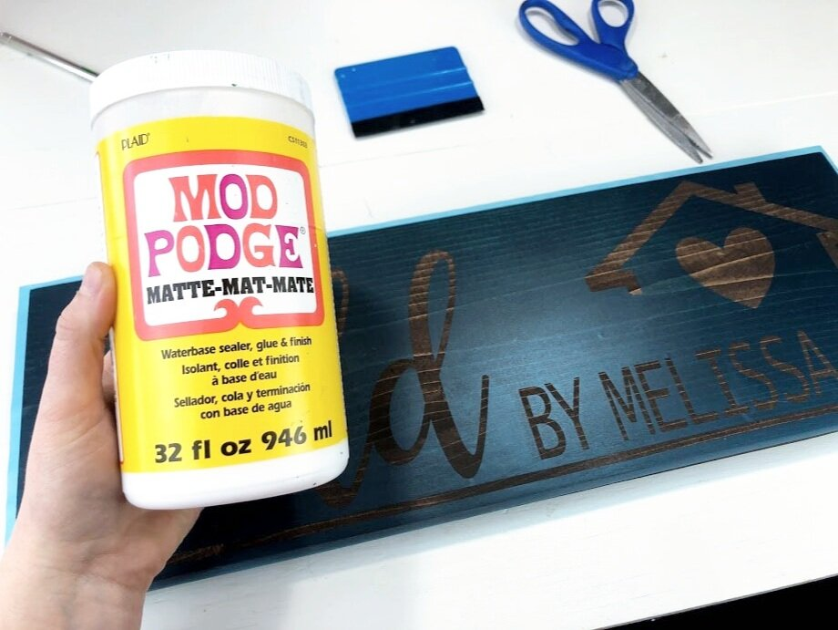 DIY sold by realtor sign using your Cricut or Silhouette cutting machine. Use this free SVG to make a realtor sold by sign photo opp prop. DIY painted wood sign for a real estate agent gift.