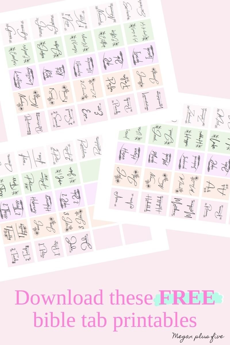 DIY bible tab printable. How to make your own bible tabs cheap and easy. Frugal mom printable. Pretty bible tab printable that are free to use.