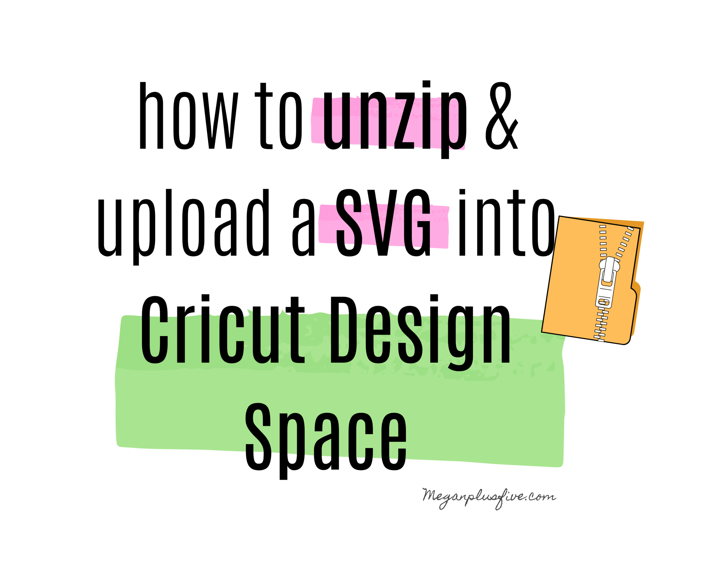 Extracting a zipped file & uploading an SVG into Cricut Design Space