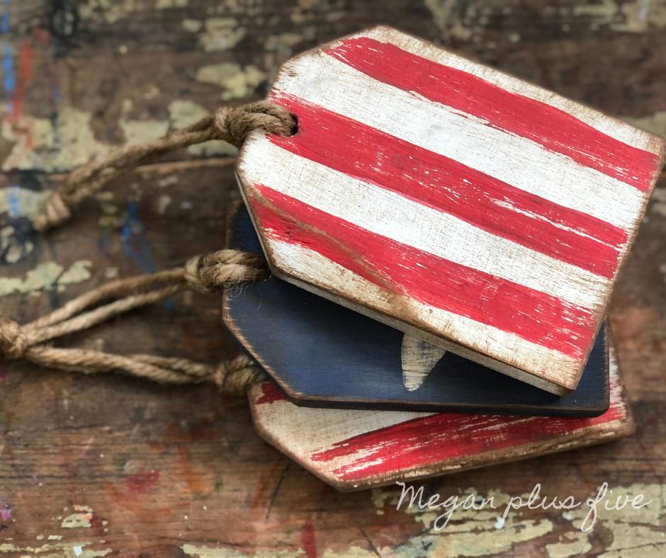 DIY 4th of July wood tags