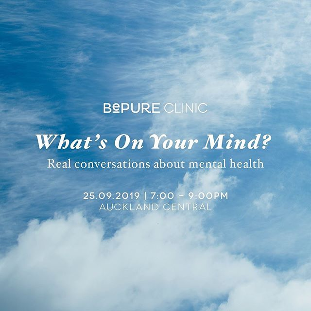 Our amazing friends at the BePure Clinic are holding an evening panel discussion 'What's On Your Mind?' this upcoming Mental Health Awareness Week.  It's being led by an incredible bunch of women to authentically share their experiences with mental health, chatting about exactly how we can nurture our mind-body connection to support mental wellbeing. . If you're in Auckland and would like to head along, tickets are available at Eventbrite: https://www.eventbrite.co.nz/e/whats-on-your-mind-tickets-72015816245 . There will be goodie bags and treats on the night too 😍