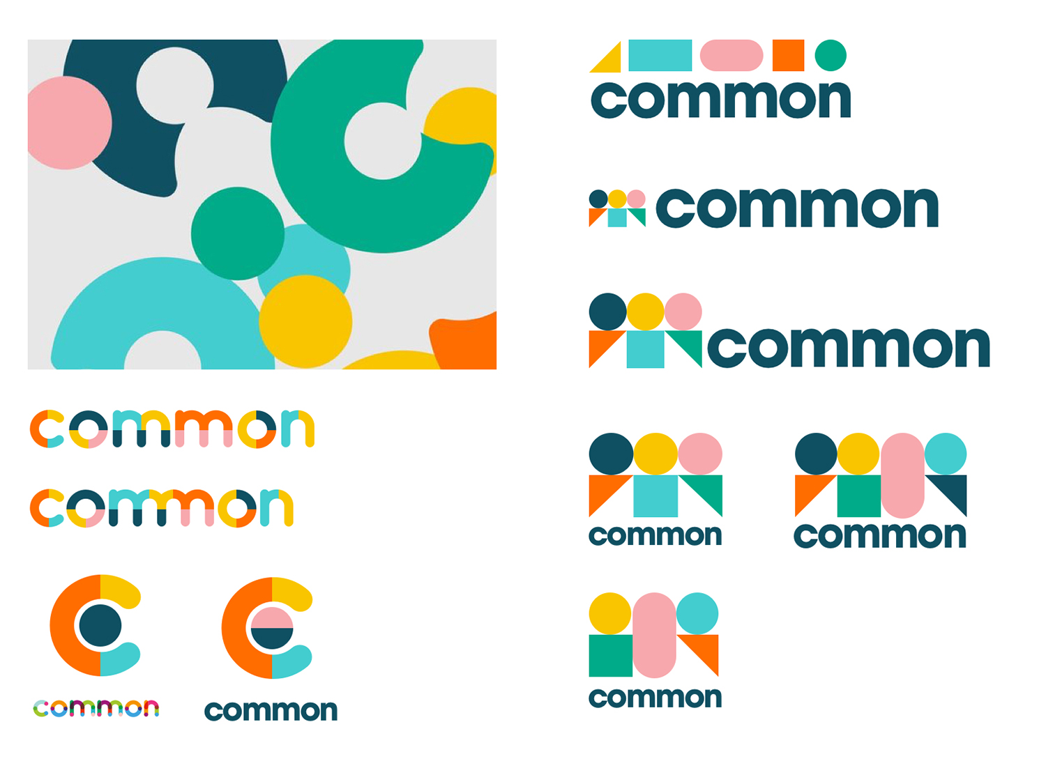 Variations on the common logo created in Sketch app. The final design was chosen for this simplicity of shape and narrative of people coming together.