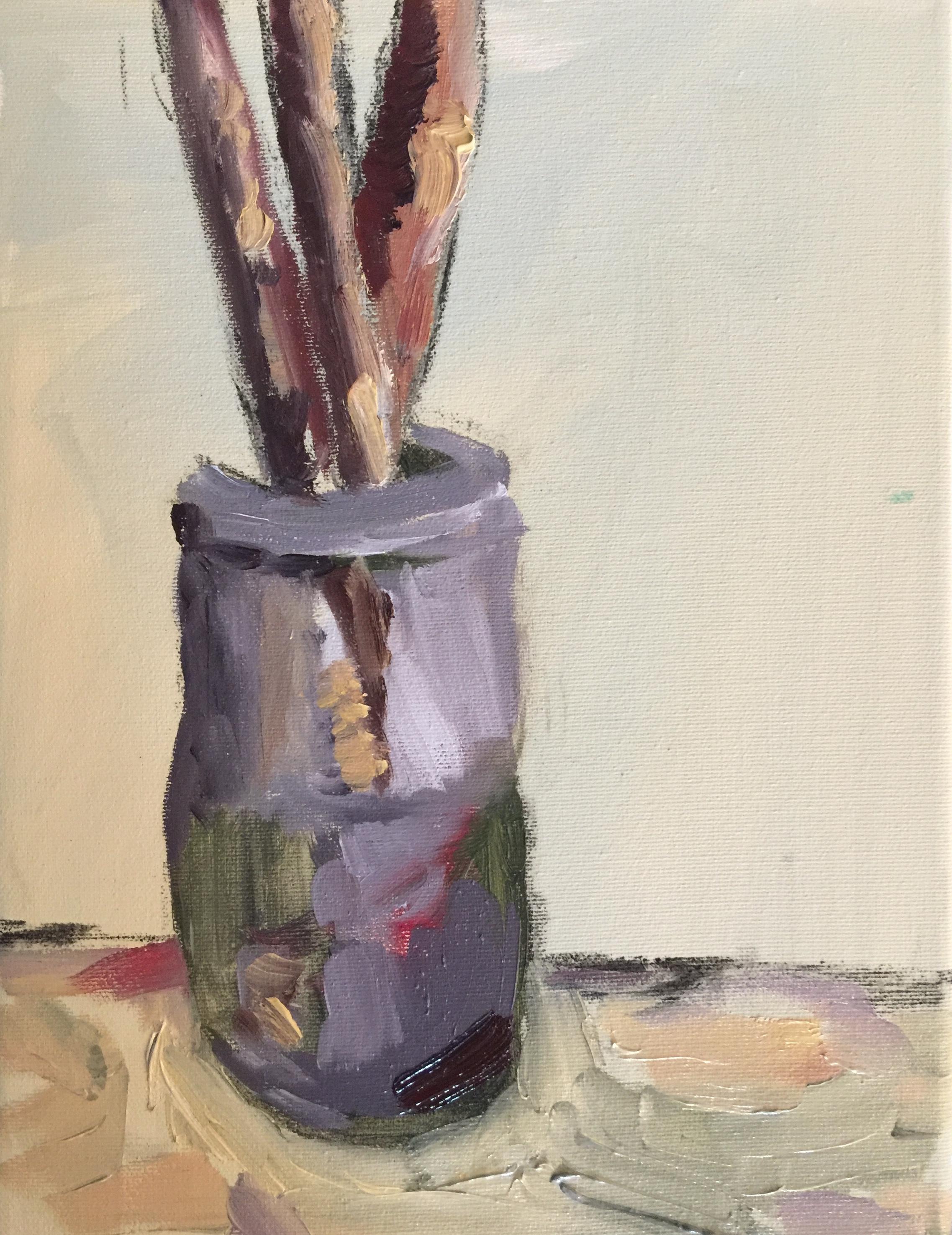 Patti Smith Land 250: Les pinceaux du peintre Duncan Grant, dans l'atelier de Vanessa Ball, Charleston
