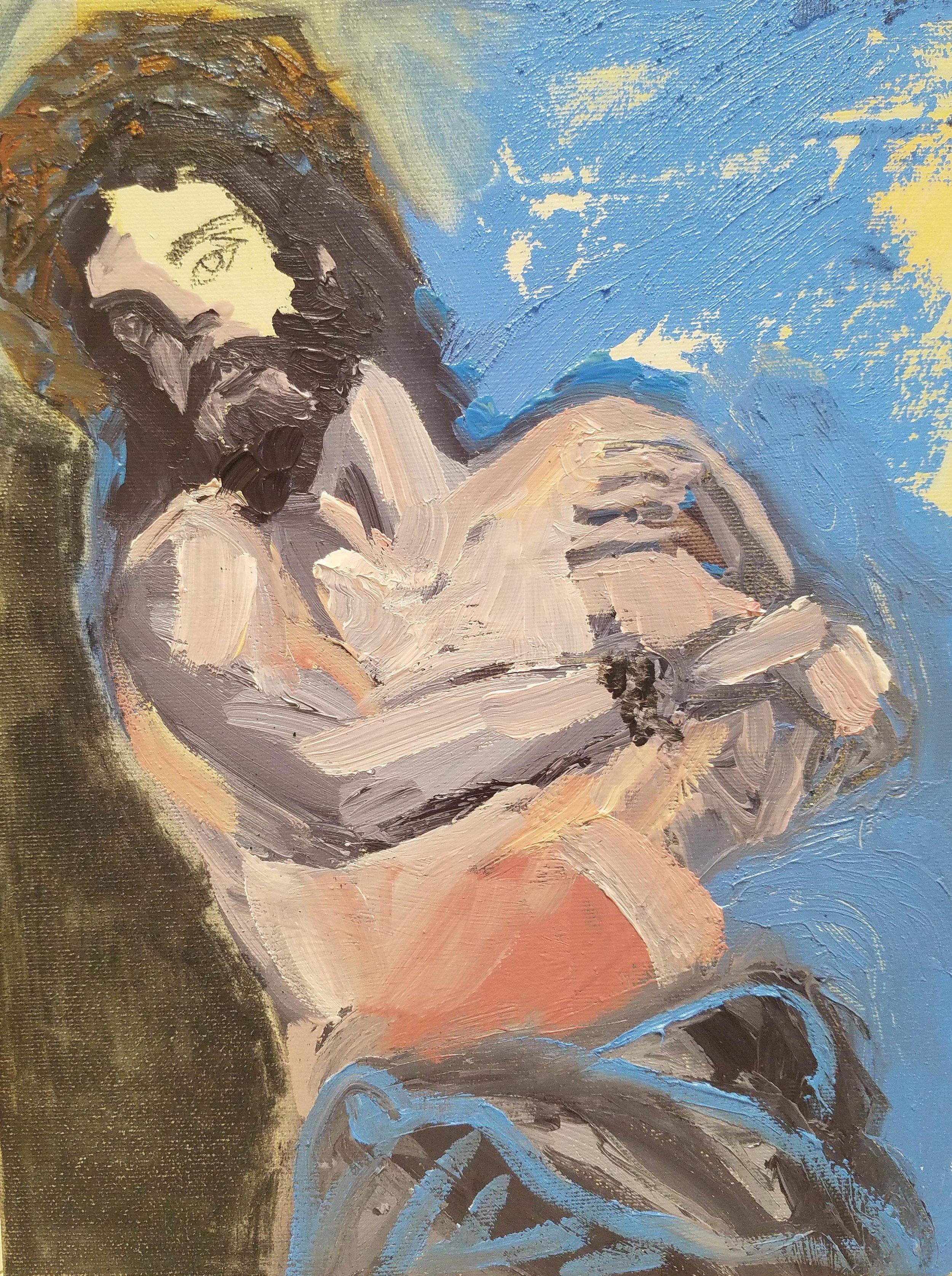Patti Smith Land 250: Christ. genge fetal. Haus du Kunst. Munich
