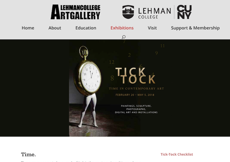 LEHMAN COLLEGE: TICK TOCK TIME IN CONTEMPORARY ART   February 2018