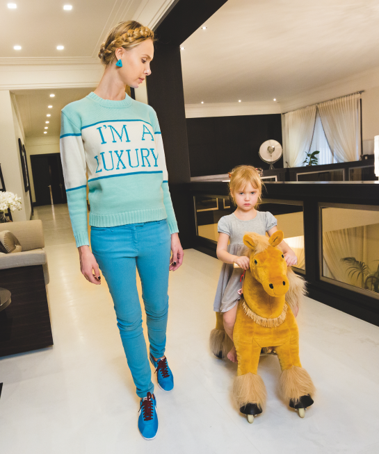 A mother and her daughter play in one image from  Generation Wealth .  Photo: Courtesy of Lauren Greenfield/Institute.