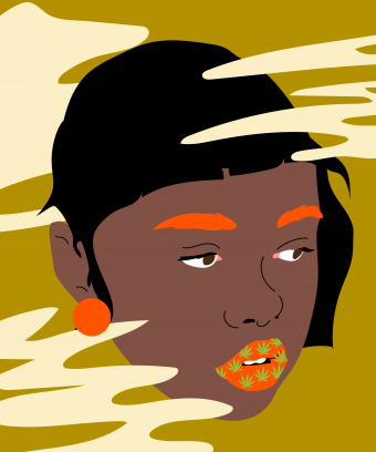 """Black Women's Billion-Dollar Weed Dilemma""   Illustration by  Paola Delucca"