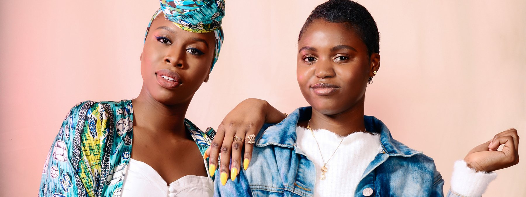Moshoodat Sanni (left) tells aspiring beauty entrepreneur Mathilda Bruny (right) what it takes to go from dreaming to doing.