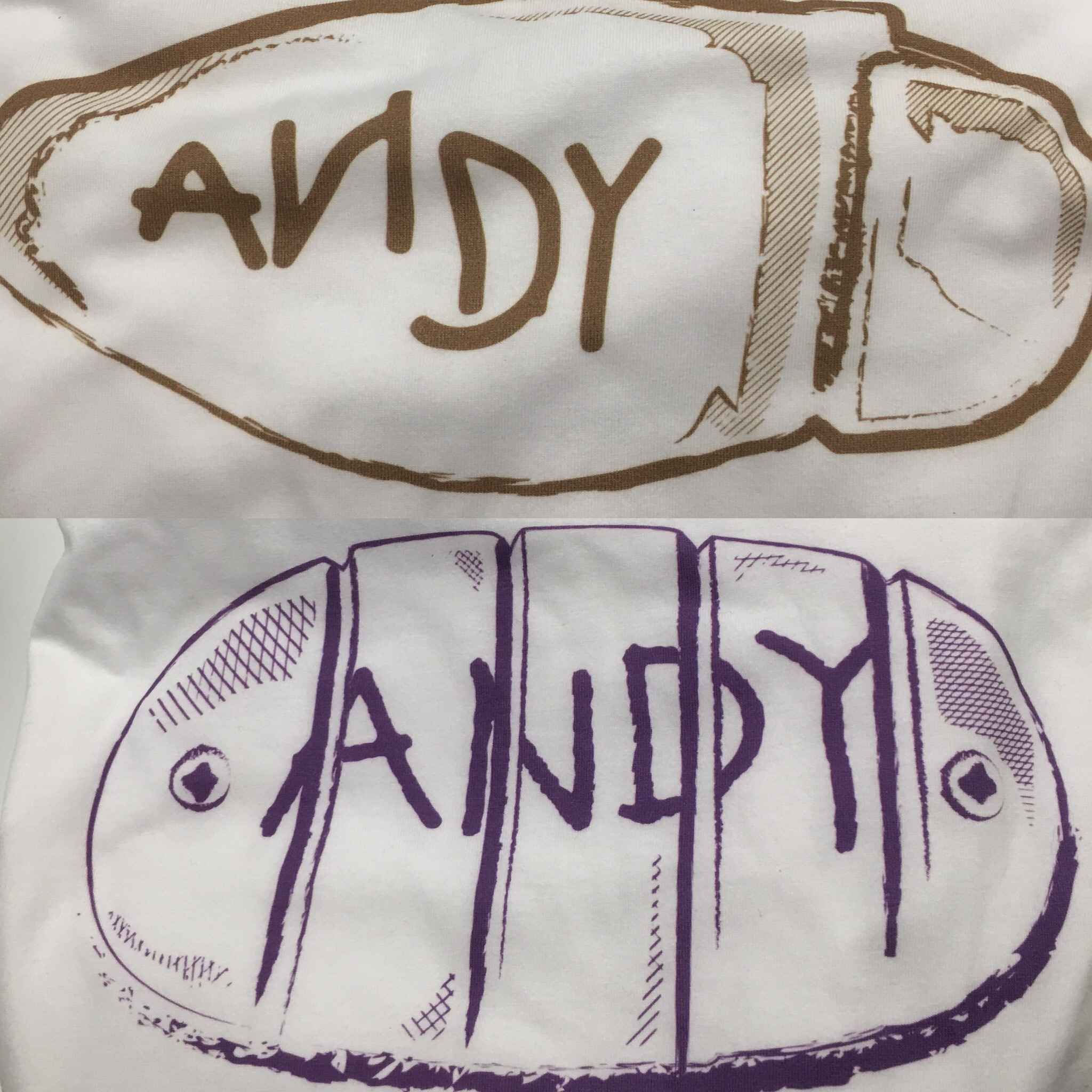 The new Andy's Toys t-shirts are direct to garment. They're also awesome.