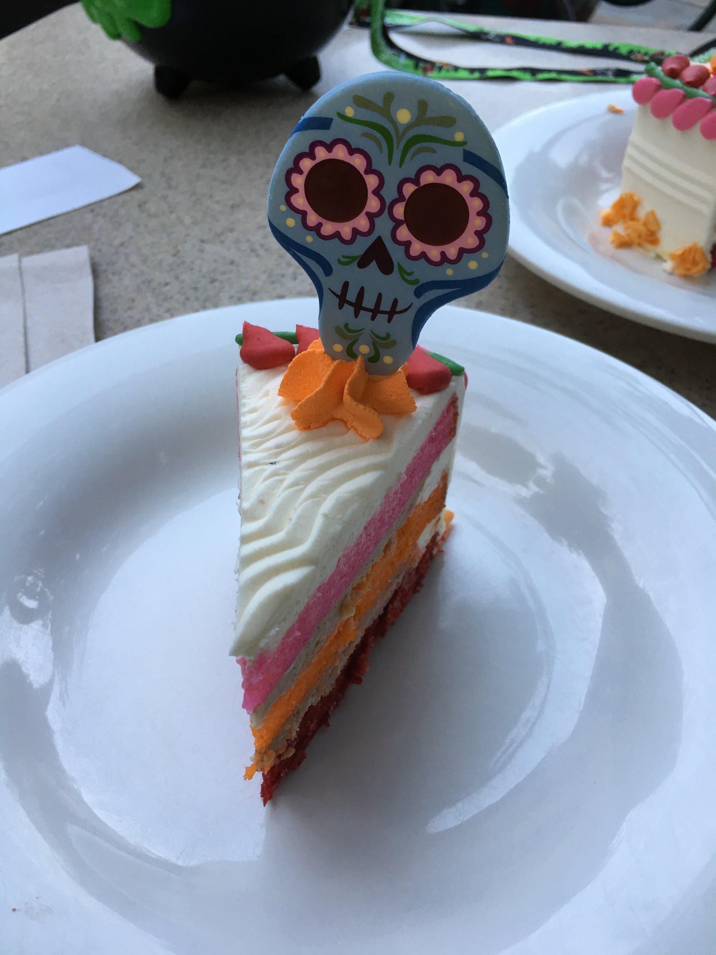 The Coco Churro Cake in DCA's boardwalk.