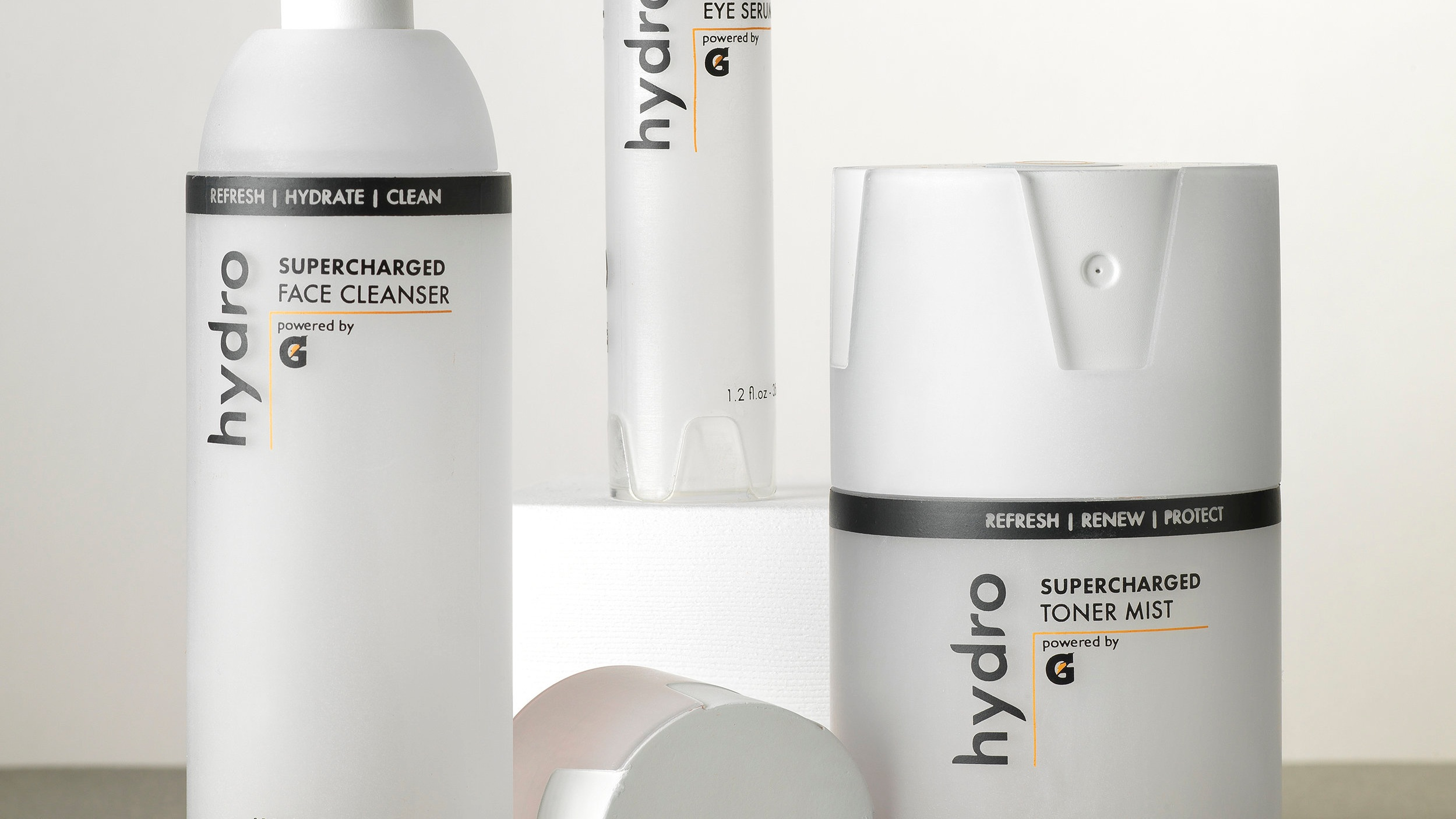 hydro premium packaging - Extending a product line for Gatorade to move into premium skincare market.