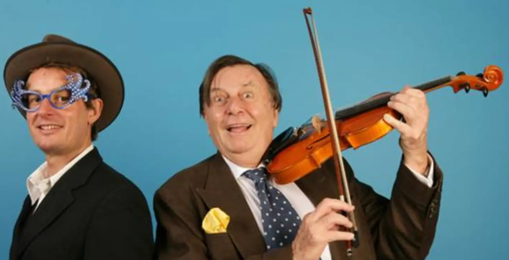 Richard Tognetti with Barry Humphries