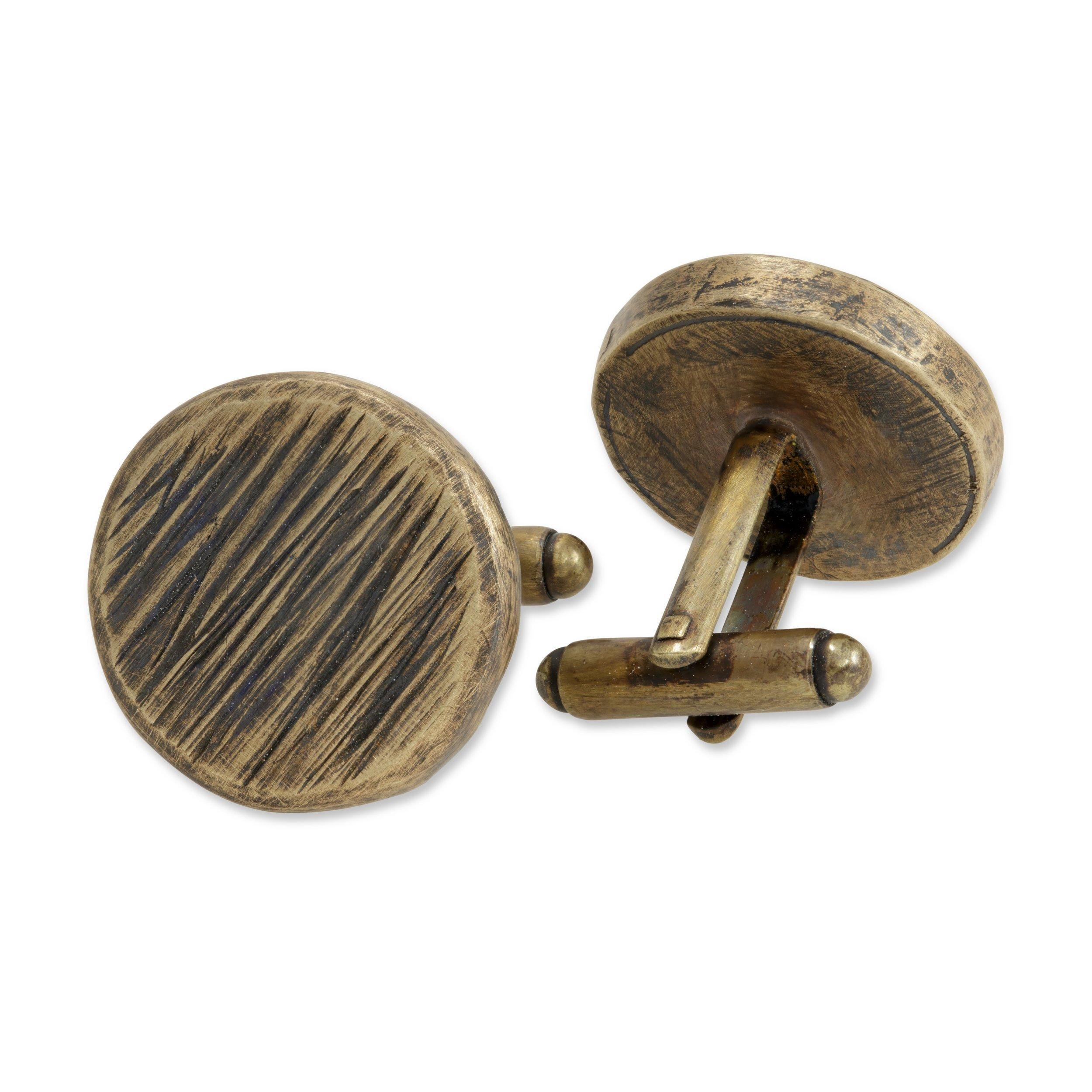 <h3>woodgrain round cufflinks</h3>