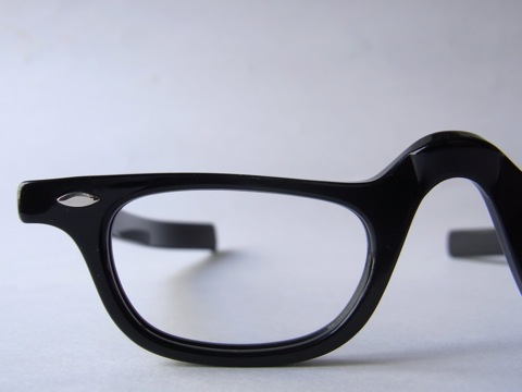 1960s TART OPTICAL[HALF-EYE BLACK 42-24]