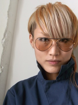 RayBan[METAL FLYING COLORS Black on Gold/Changeable Brown]