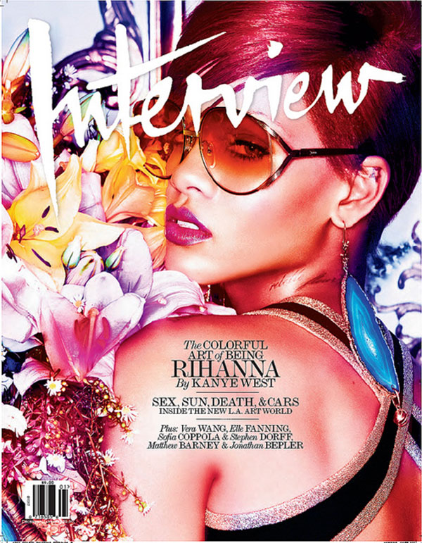 Interview December 2010 Cover  Rihanna by Mikael Jansson