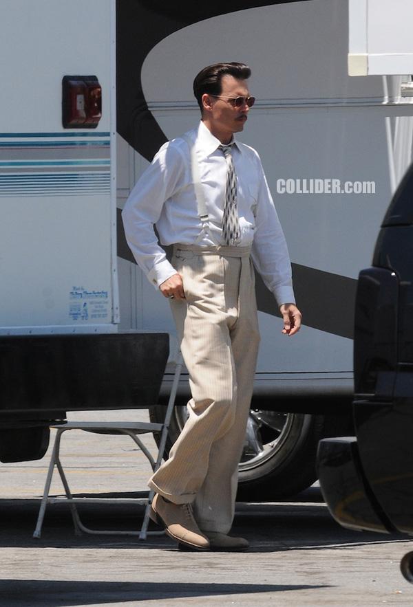 Public Enemies Johnny Depp  movie image on location Collider.com